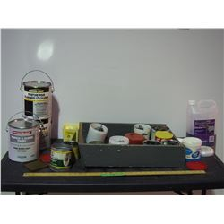 Lot of Misc Nails, Staples, Hardware and Paints