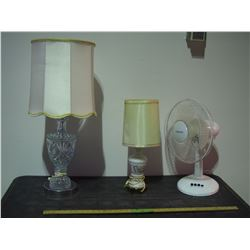 2 Lamps and Fan