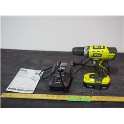 18 Volt Dual Chemistry Battery Charge and Drill Both Ryobi (Working)