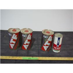2X THE MONEY - 4 Full Oil Cans ATF and 2 Cycle Oil