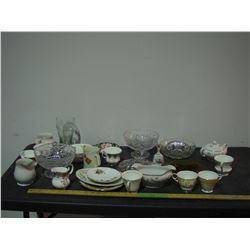 Lot of Chinaware, Glassware, Royal Albert and Misc