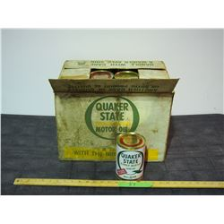 24X THE MONEY - Quaker State Paper Style Containers 1L Full 10w30 Oil Cans IN ORIGINAL BOX