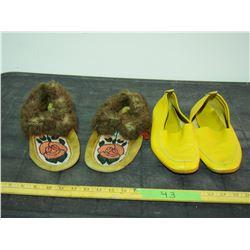 Beaded Slippers (Men's 9ish) and Vintage Slippers (Ladies 9.5-10)