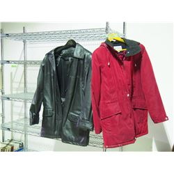 2 Womens Jackets, 1 From Leather Ranch and 1 Small Size Winter Jacket