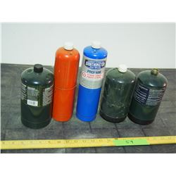 Propane Tanks (3 Close to Full and 2 Less than Half)