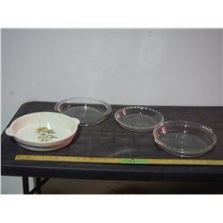 Pyrex and Stoneware Pie Plates