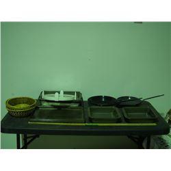 Baking Pans, Baking Plates and Enamel Frying Pans