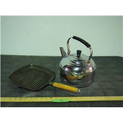 Kettle Stainless Steel and Griddle