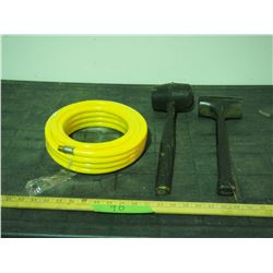 Air Hose and 2 Rubber Mallets