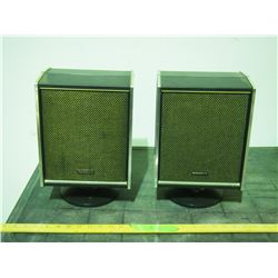 2 Retro Speakers on stands - Panasonic