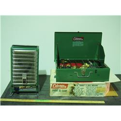 2X THE MONEY - Coleman Catalytic Heater and Coleman Camp Stove