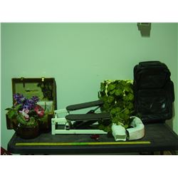 Stepper, Travel Bags, Artificial Plants and Misc