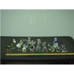 Lot of Glass Figurines and Ornaments