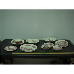 Haddon Hall Johnson Bros Chinaware (25 Pieces, 1 Piece has Small Crack)
