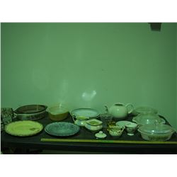 Casserole Dishes, Plates and Misc