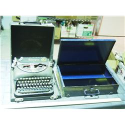 Metal Storage Box, Remington Typewriter in Case