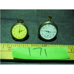 2 Cylinder 10 Rubis Women's Pocket Watches (Large One Working)