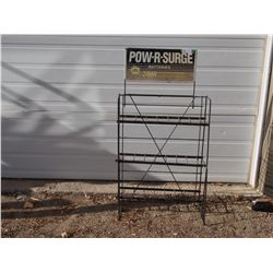 """Pow-R-Surge Battery Metal Display 25 by 48"""" T"""