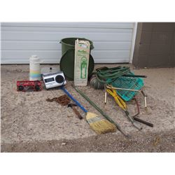 Garbage Can, Radios, Chain and Misc