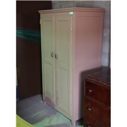 """Wooden Wardrobe 35.5 by 21 by 66"""" T"""