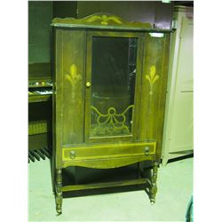 """Vintage China Cabinet on Caster 33 by 14.5 by 57"""" T"""