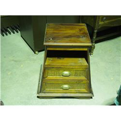 """Wooden 2 Drawer Storage Cabinet 16 by 16 by 25"""" T"""
