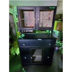"""Wooden Shabby Chic Cabinet Base: 40 by 16 by 40"""" T Top: 24 by 12 by 28.5"""" T"""