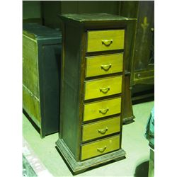 """Wooden 6 Drawer Storage Cabinet 17.5 by 17.5 by 49"""" T"""