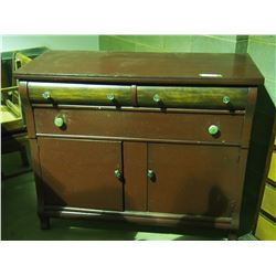 """Wooden 5 Drawer Cupboard 46 by 20 by 38"""" T"""