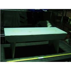 """Wooden Bench 32.5 by 12.5 by 12.5"""" T"""