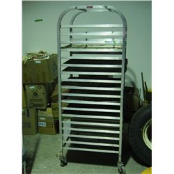 """Doyon Bakers Rack with Pans 67"""" T by 26"""" by 20.5"""" W"""