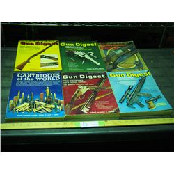 Gun Digest, Shot Gun Digest. and Cartridges of The World Books