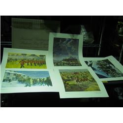 Set of 14 Full Color Reproduction Paintings (The Historical Paintings of the Hudson Bay Company)