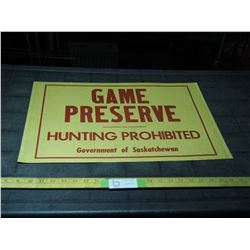 Cardboard Game Preserve Sign 22 by 14""