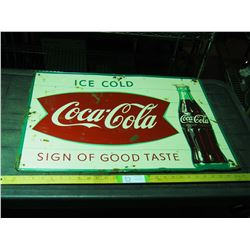 Coca Cola Tin Sign (Original) 27.5 by 20