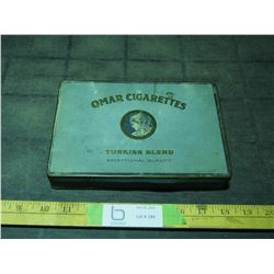 Omar Cigarettes Tin 8.5 by 6""