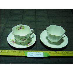 2X THE MONEY - Shelley Cups and Saucers