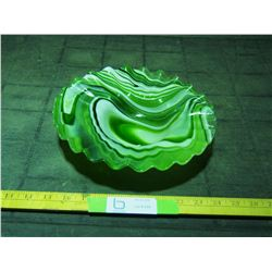 Fancy Green Glass Bowl