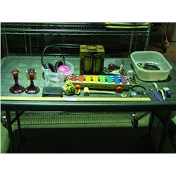 Jewelry Box, Xylophone Toy and Misc