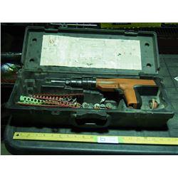 Remington 496 Hilti Gun with Shots in Case