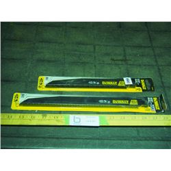 """2 Packages of New Reciprocating Saw Blades 12 and 9"""" (10 Blades Total)"""