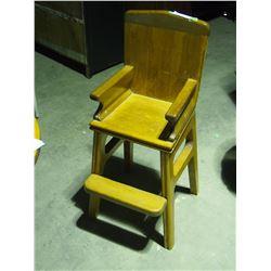 """Wooden Kids High Chair 33.5"""" T"""