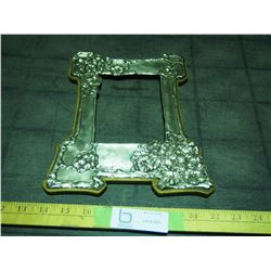 """Mills and Sons Silver Smiths 1905 Picture Frame (Top 7.5"""" Wide, Bottom 8.5"""" Wide, by 10.25"""" Long)"""