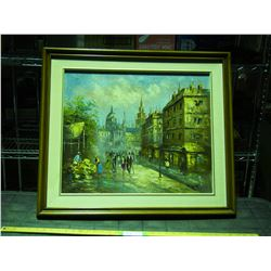 """Oil Painting on Canvas in Frame by D.Murray 30 by 26.5"""""""