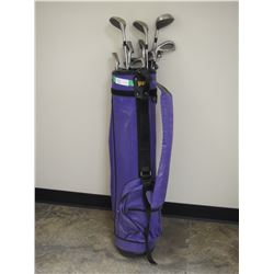 Left Handed Golf Clubs in Bag