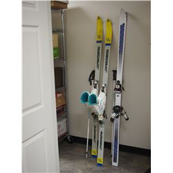 2X THE MONEY - 2 Pairs of Skis, 1 Set of Poles and 1 Set of Boots