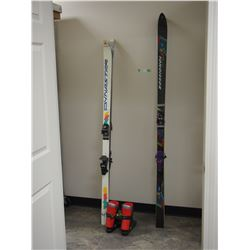 2X THE MONEY - 2 Pairs of Skis, 1 Set of Boots