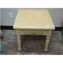 """Wooden Table with 1 Drawer 22 by 25 by 20.5"""" T"""