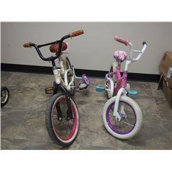 2 Kids Bikes (1 Missing Training Wheels)
