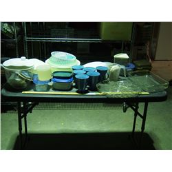 Tupperware, Glass Tray, Baking Pan and Plus Cups